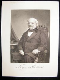George Peabody 1873 Antique Portrait Print